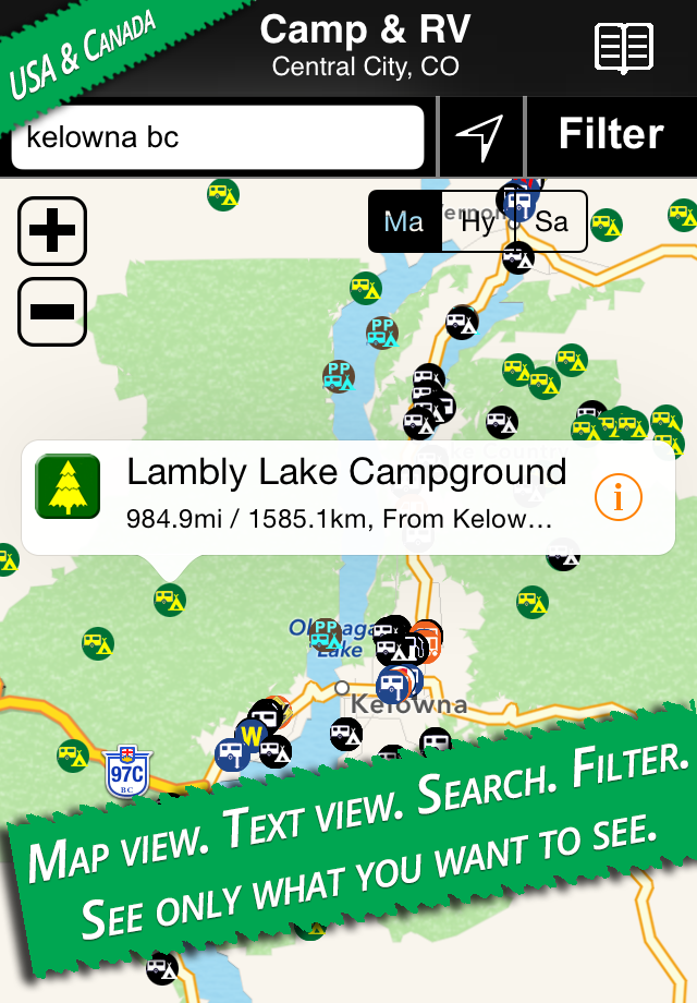 Campgrounds Usa Map.Allstays Camp And Rv Rv Parks Campgrounds App