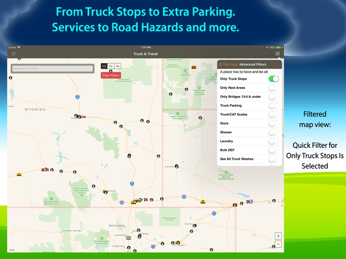 Allstays Truck Stops and Travel Plazas App