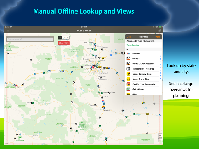 Allstays Truck Stops and Travel Plazas App
