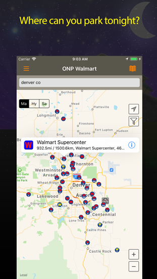 Overnight Parking Wal Mart Iphone Ipad Application Allstays