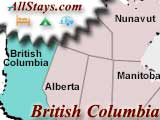 Campground near Sayward British-Columbia