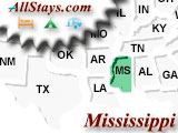 Campground near Robinsonville Mississippi